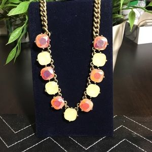 J Crew pinky rhinestone necklace